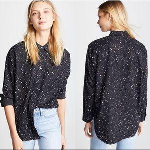 Madewell Oversized Ex-Boyfriend Shirt Star Print S